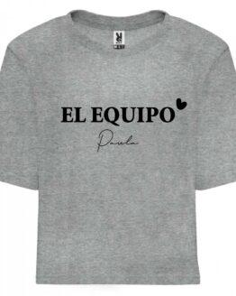 Camiseta equipo novia gris