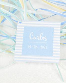 Etiqueta Rayas Azul