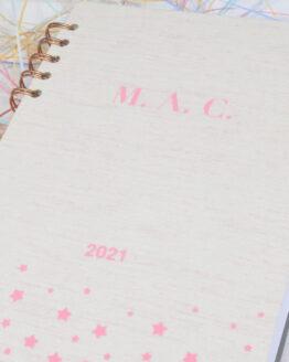 Agenda estrellas rosa