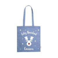 Bolsa Tote Navidad azul